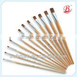 Hot selling Synthetic Kolinsky Blend Wood Handle Gouache Brush/Paint Brush/Artists Brushes