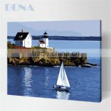 Bona Kids DIY Acrylic Painting By Numbers Fishing Boats