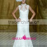 R13629 2013 Barcelona summer high royal queen collar wholesale lace wedding dresses