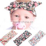 Infant Baby Girls Toddler Newborn Print Dot Rabbit Ears Hairband Turban Bow Knot Headband Hair Band Accessories
