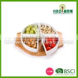 Ceramic food tray with board , snack tray