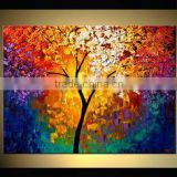 Framed painting heavy texture abstract modern flower oil painting 60391