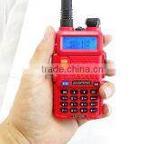 red BF Walkie Talkie 5W 128CH UHF VHF BaoFeng original uv-5r Transceiver Mobile Handled Free Headphone