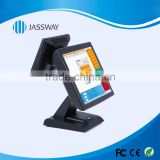 15 inches dual-screen touch POS machine, all-in-one POS terminal, point of sale systems