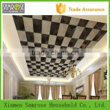 2015 china home decor wholesale faux leather polyurethane price 3d decorative ceiling panels