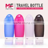 Silicone Travel Tube Carry on The Plane 89ml Portable Soft Silicone Travel Bottles Set BFA Free FDA