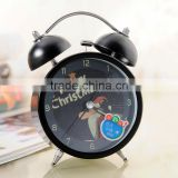 Supply Fashion colorful ultra-quiet with light Twin Bell alarm Clock --Black Santa Claus