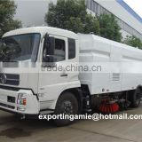 China brand new dongfeng 4x2 road sweeper for street cleaning truck