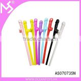 Hen party colorful willy straw bachelorette party supplies plastic penis straw