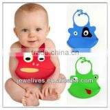 customized printed baby bibs with pocket,nonwovens and 3 color printing composite membrane