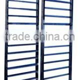 stainless steel bakery trolley , bakery tray trolley