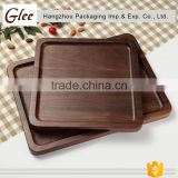 Marvelous trendy Eco-friendly Black Walnut lumber wood Plate ,Wooden Square Shape Serving Tray/Dishes