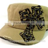 Wholesale Elegant Good Quality Leopord Khaki caps