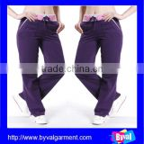China maufacturer womens custom cotton plain drawstring sweat pants for wholesale
