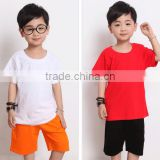 Fashion custom blank kids plain round neck short sleeve multi-color t shirts wholesale china supplier