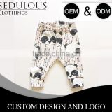 customized cartoon printed baby pants with attractive packing