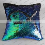 5mm gold luxury thunder laser reversible double side sequin fabric pillow wholesale china
