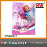 Pink 11.5 '' Plastic Joints Movable Fairy Doll