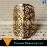 Accessories For Women Geometry Gold Flower Of Life Ring Bohemian Jewelry
