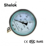 High quality Manometer silicone oil filled bar pressure gauge
