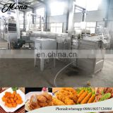 industrial nut frying line /frying nuts production line /fried peanuts making machine