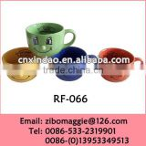 Wholesale Zibo Made Colored Hot Sale Porcelain Cup with Nose for Disposable Porcelain Coffee Cup