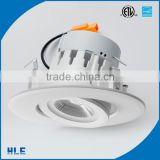 GU10 led lamp base gimbal/gimble/tiltable/tilt pure aluminium adjustable downlight kit