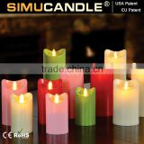 LED candle with flickering flame with remote with USA and EU patent for Party Decorative