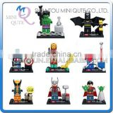 Mini Qute Senye 8pcs/set Marvel Avenger super hero Batman spiderman building block action figures educational toy NO.SY 279