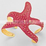 Wholesale Costume Jewelry Bubble Starfish Wrap Cuff Bracelet
