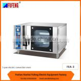 3 pans electric commercial convection oven 220V with steam FEA-3