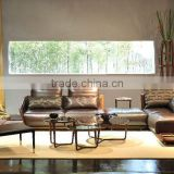 Modern design L shaped sectional sofa set designs and prices Genuine leather sofa set in living room