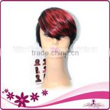 NEW ARRIVEL!!!! cheap synthetic hair wigs short hair machine made wig                                                                         Quality Choice