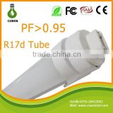 Single Pin 5 Feet T8 Led Tubes Lights 36W 2800lm 240Leds 2835 SMD 5ft Fluorescent Tube 1500mm r17d lamp holder