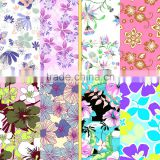 Beautiful flower designs painting fabric for ladi's dress and underwear