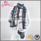 British style plaid shawl / Advertising Flag Scarf/ women silk custom scarf