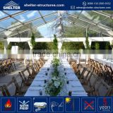 Customized size maximum wind loading 100km/h(0.5kn/sqm) marquee with interior for events 1000sqm meile tent