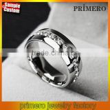 New Arrival Stainless Steel CZ Diamond Single Row Diamond Ring Wholesale Fashion Jewelry