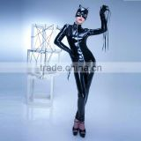 latex catsuit sexy black hot women pvc leather morphsuit catwoman catsuit