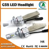 New generation G5S LED head lamp H4 H7 H8 H11 9005 9006 LUXEON ZES auto car LED headlight Hi/lo