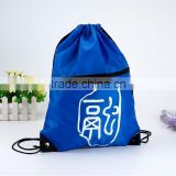 nylon fabric shopping bags,drawstring bag ,silk printing ,rope closure style