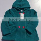 Frock design baby girls polar fleece jacket baby girl coat lovely baby clothing