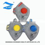 High quality respirator/disposable non-woven dust mask with breathing valve and active carbon