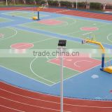 Reasonable elasticity outdoor rubber basketball court price