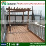 WPC decking for outdoor green garden building with crack-resistant and long lifespan