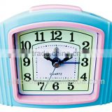 plastic flashing music bell analog snooze alarm clock