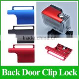 GP157 Aluminum Alloy Back Door Clip Safety Lock Buckle Lock For Go Pro Hero3+ Dive Housing Accessories
