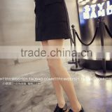 2015 New black tassels leather dress with High quality PU leather in Yiwu