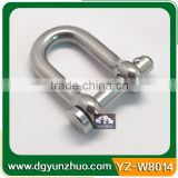 4mm Stainless steel D shackle for paracord bracelet, stainless steel D shackle with clevis pins