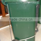 Moblie bin with side pedal,120liter dustbin with middle pedal,plastic foot pedal waste bin                                                                         Quality Choice